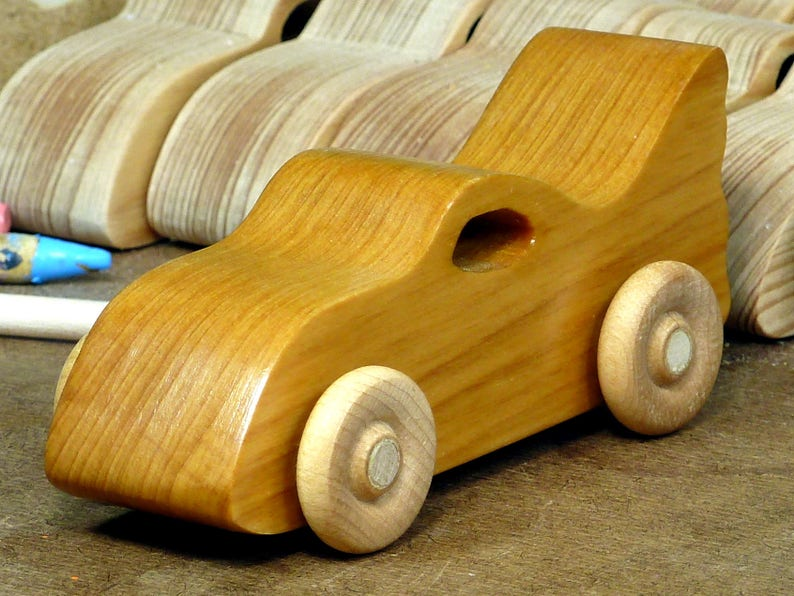 Handmade Wooden Toy Car Bat Car from the Play Pal Series image 0