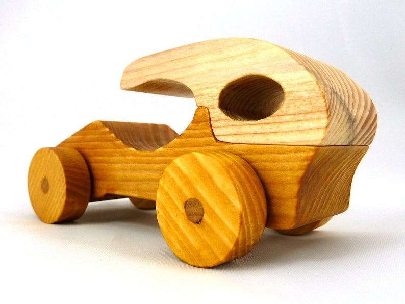 Handmade Wooden Toy Car Hot Rod Roadster Coupe From The Speedy image 0