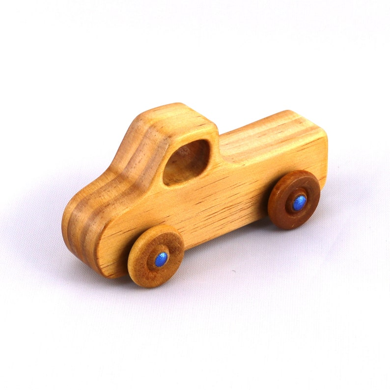 Handmade Wooden Toy Pickup Truck from the Play Pal Series image 0