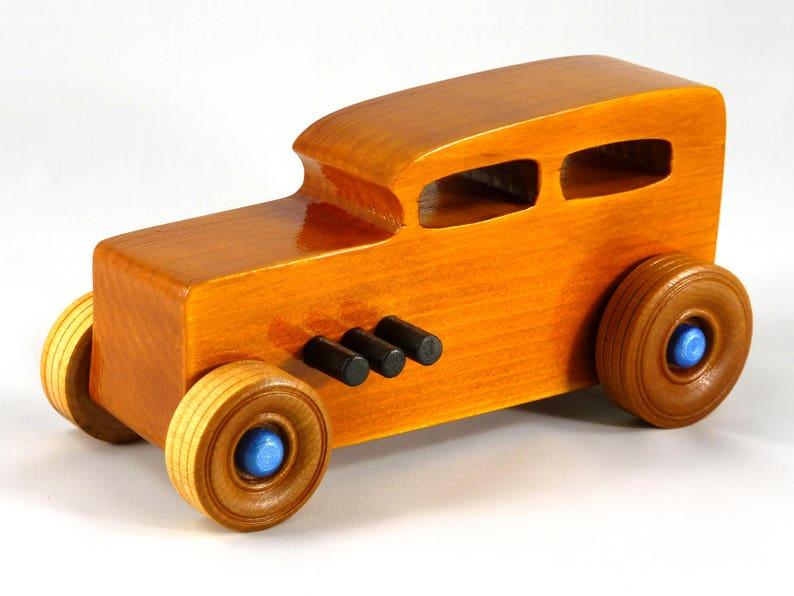 Wooden Toy Car Hot Rod Sedan image 0