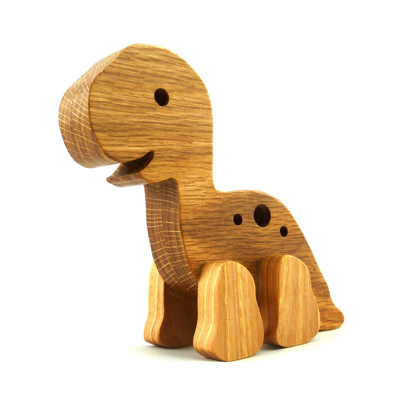 Handmade Wooden Toy Baby Dinosaur image 0