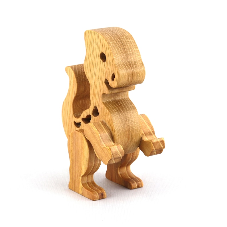 Handmade Wooden Toy Baby Dinosaur  Made To Order  Ships in 5 image 0