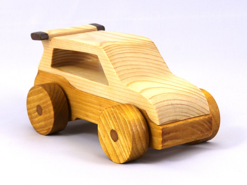 Handmade Wooden Toy Car Hot Rod Roadster Mini Van From The image 0