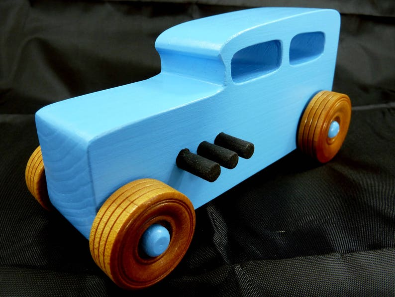 Handmade Wooden Toy Car Hot Rod A Classic 1932 Sedan In Baby image 0