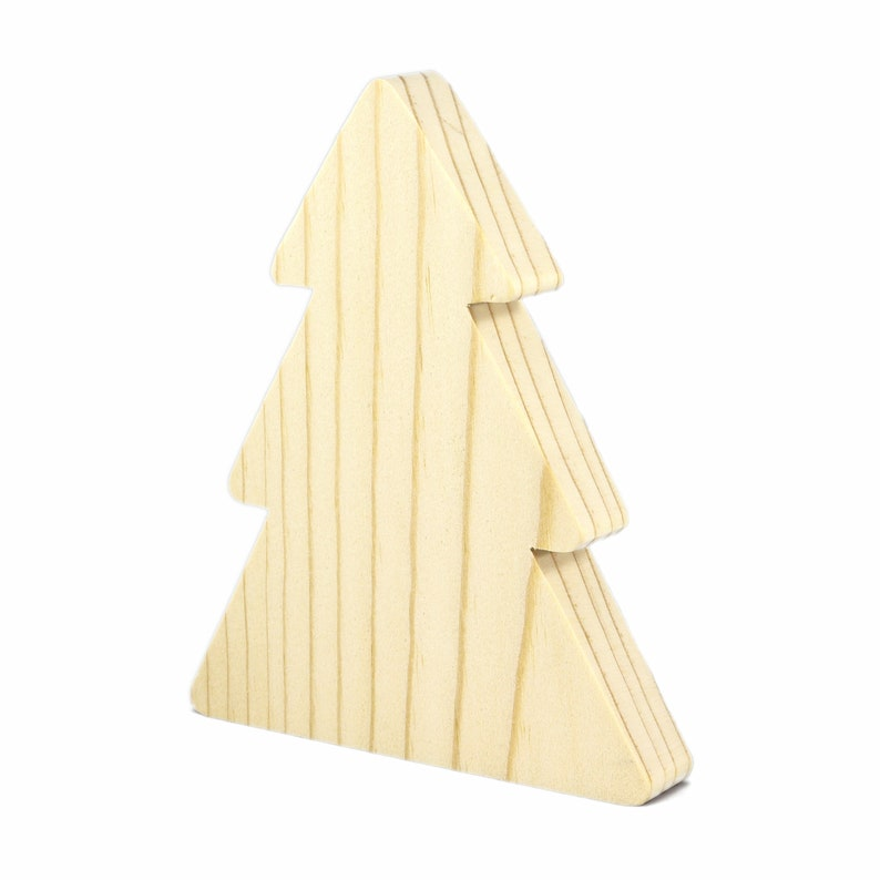 Handmade Wooden Christmas Tree Cutout Freestanding image 0