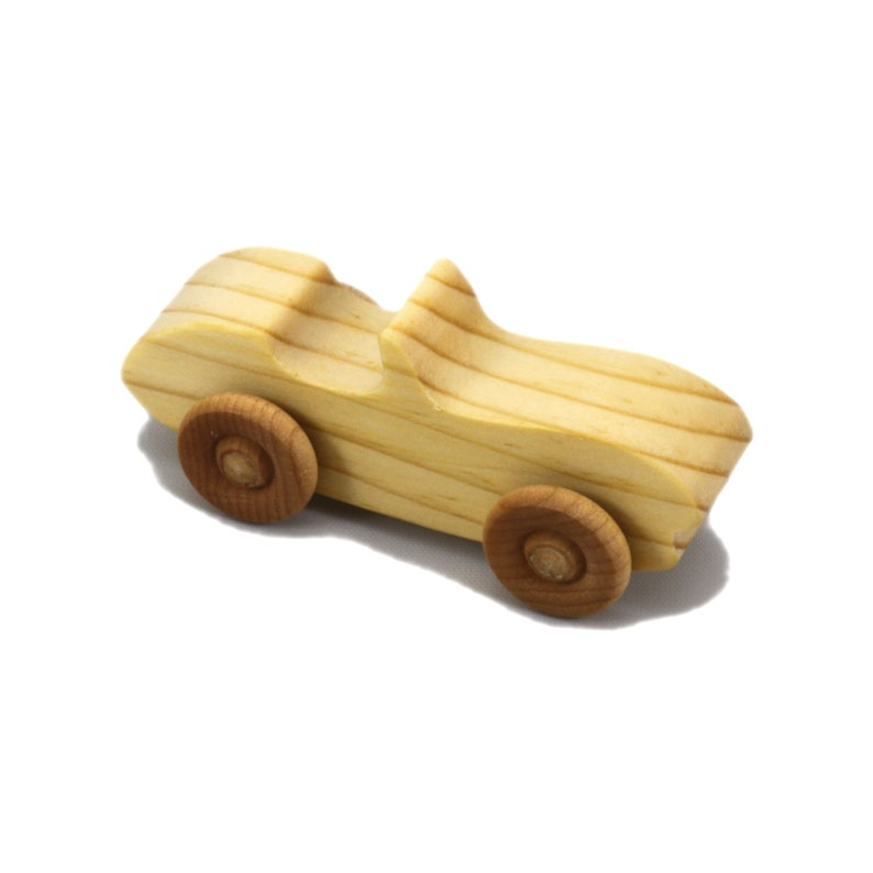 Handmade Wooden Toy Car Convertable Sports Coupe Snazzy image 0