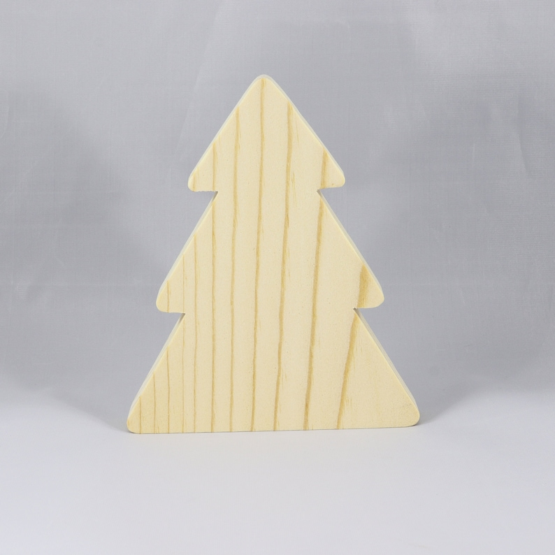 Handmade Wooden Christmas Tree Cutout Freestanding image 0