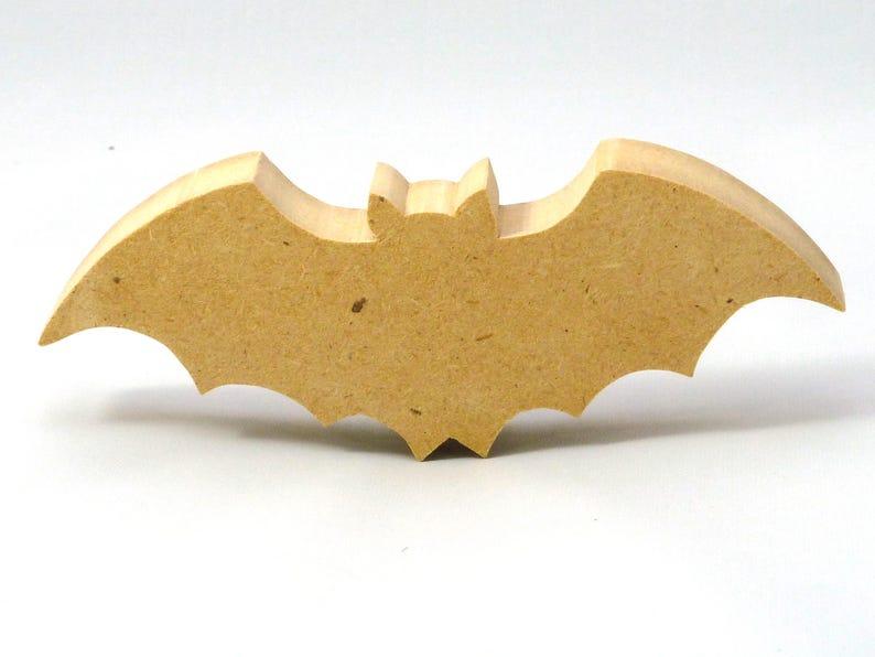 Handmade Wooden Halloween Bat Cutout  image 0