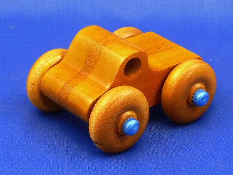 Handmade Wooden Toy Truck Monster Truck Nontoxic Clear image 0