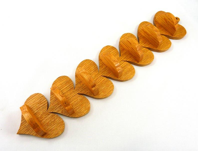 Hand Made Wooden Heart Shelf A Rustic Wooden Heart Shaped image 0