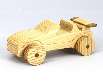 Wood Toy Car Convertible From The Speedy Wheels Series - Handmade