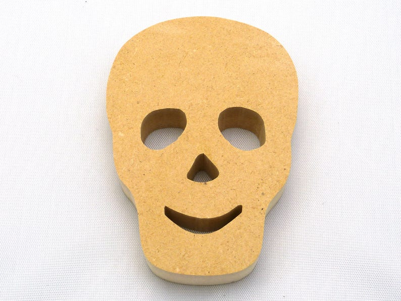 Human Skull Cutout Custom Sizes Available image 0
