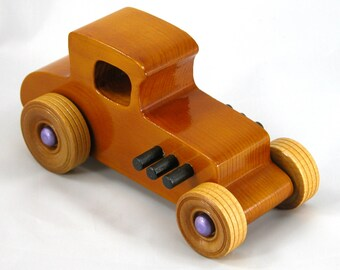 Wooden Toys For Boys, Wooden Toy Car, Hot Rod, 27 T Coupe, 1927 Ford, Race Car, Street Rod, Dragster, Speedster, Rat Rod, Wood Toy Car, Toys