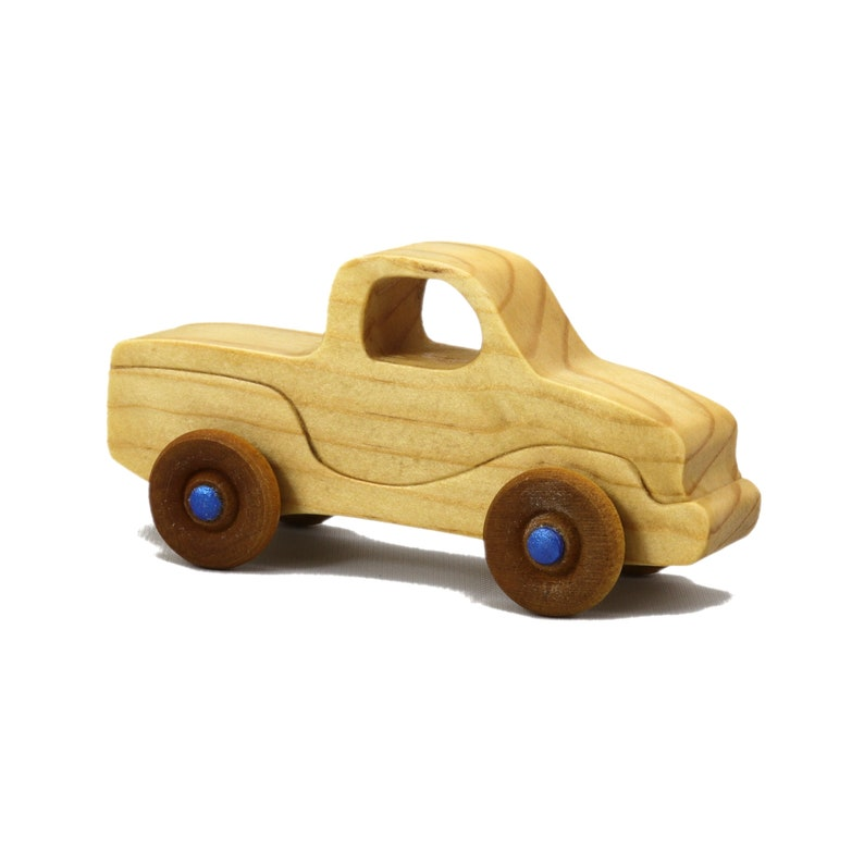 Handmade Wooden Toy Truck Itty Bitty Mini Jimmie Pickup Play image 0