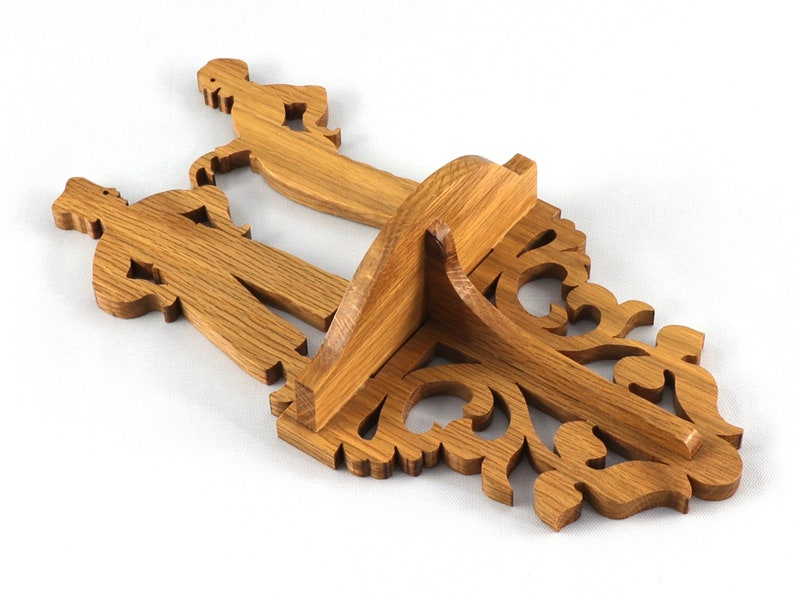 Small Wooden Victorian Fretwork Wall Shelf image 0