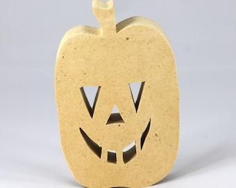 Halloween Jack-O-Lantern Cutout - Handmade - Wood