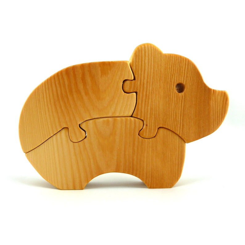 Wooden Bear Puzzle for Toddlers And Preschool Kids image 0