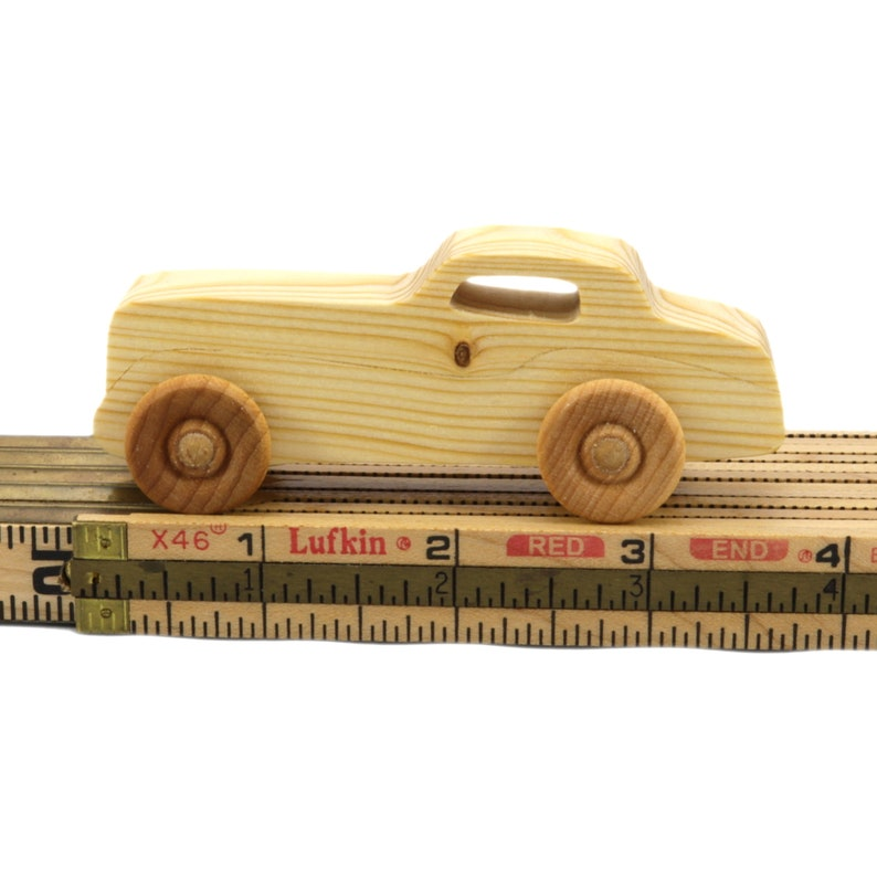 Handmade Wooden Toy Car Roadster Coupe Play Pal Size Mini Itzy image 0