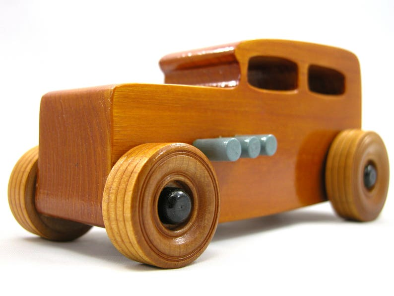 Handmade Wooden Toy Car Hot Rod Classic 1932 Sedan Finished image 0