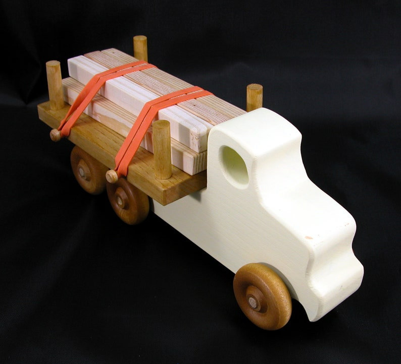 Handmade Wooden Toy Truck Lumber Truck Quick N Easy 5 Truck image 0