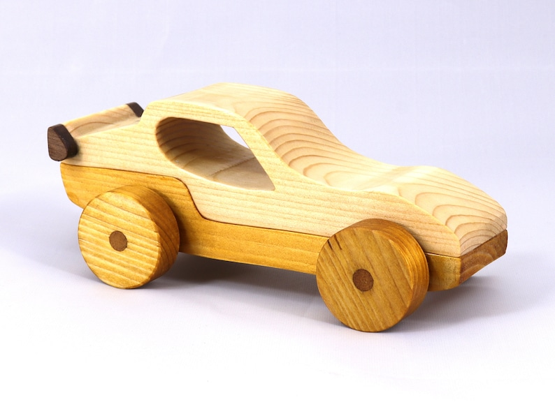 Handmade Wooden Toy Car Sport Coupe From The Speedy Wheels image 0