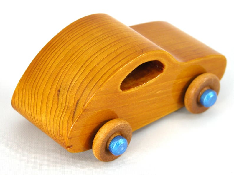 Handmade Wooden Toy Car Classic 1957 Bug From the Play Pal image 0