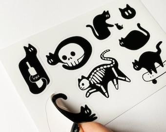Black Cat Vinyl Sticker Sheet