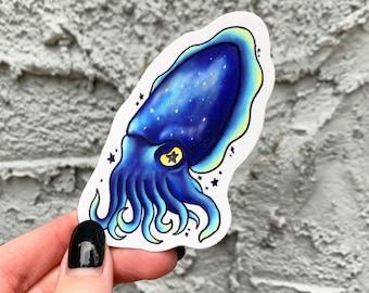 Cuttlefish Galaxy Vinyl Sticker