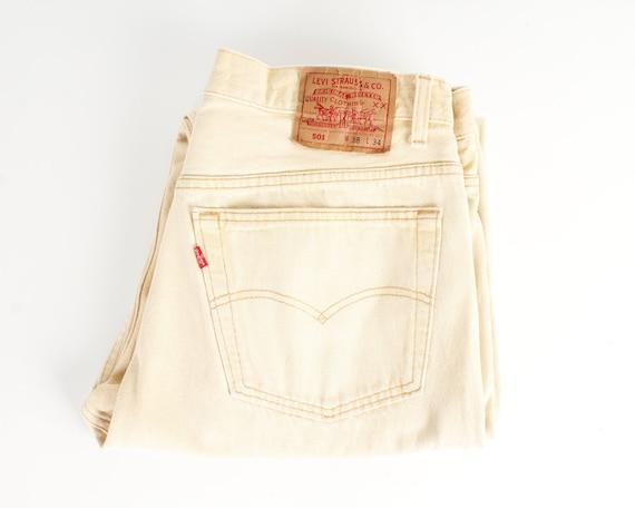 Levis 501 Vintage Levis Jeans Beige Vintage Hipste