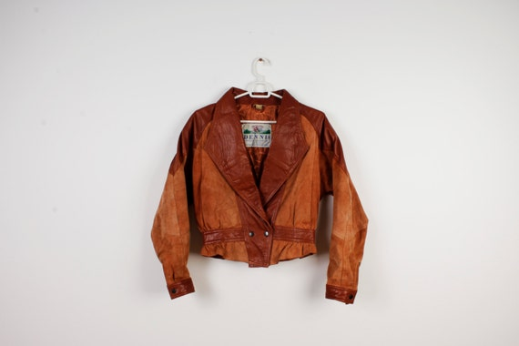 90s Women Jacket Real Leather Jacket Coats Motorcy