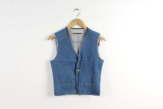 f06aeb0ccb16c Denim vest vintage women denim waistcoat cut off denim jacket etsy jpg  570x380 Cut off denim