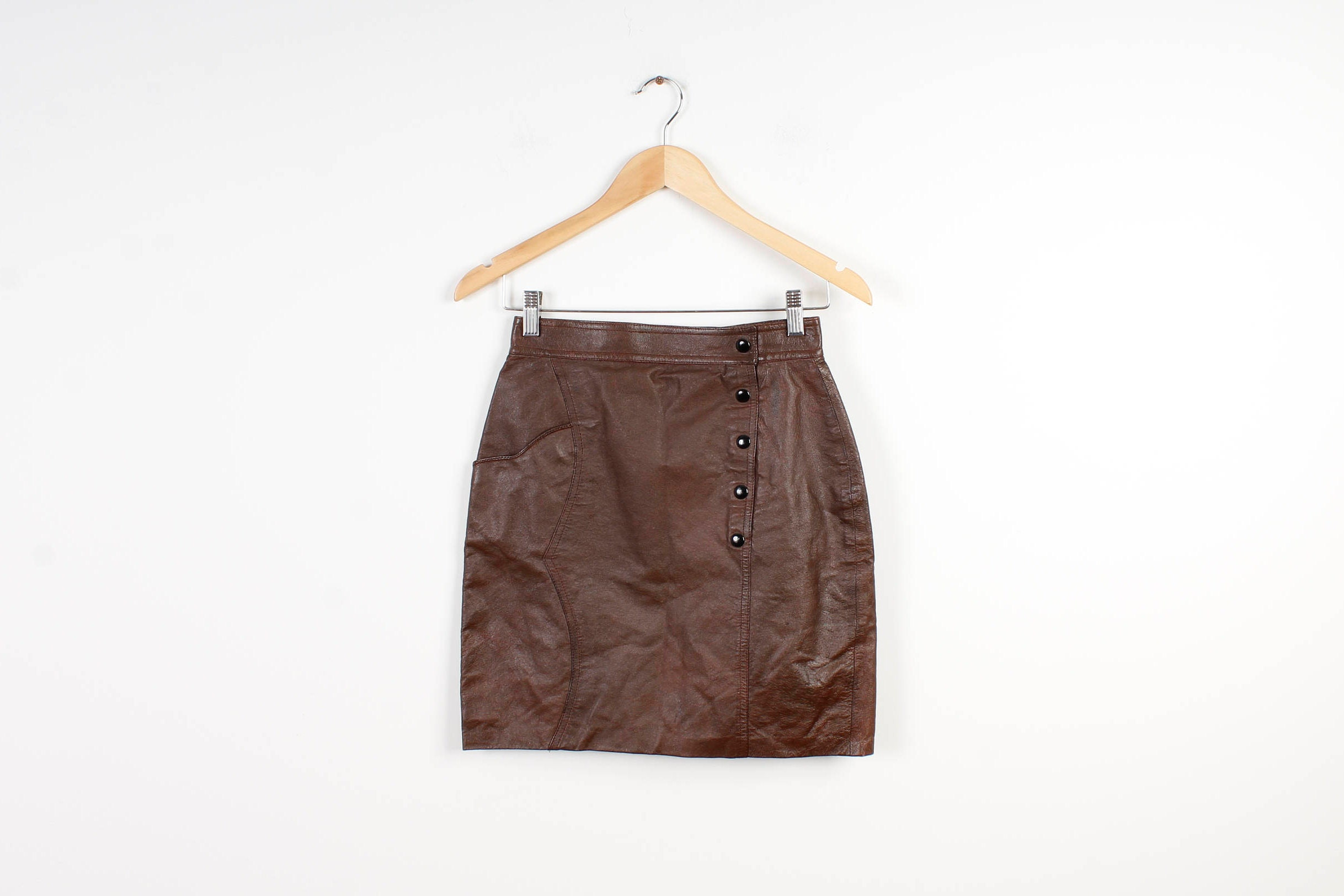 ad79a3fe2 Short Faux Leather Pencil Skirt