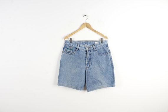 Denim Shorts Vintage Shorts Light Blue Denim 80s V