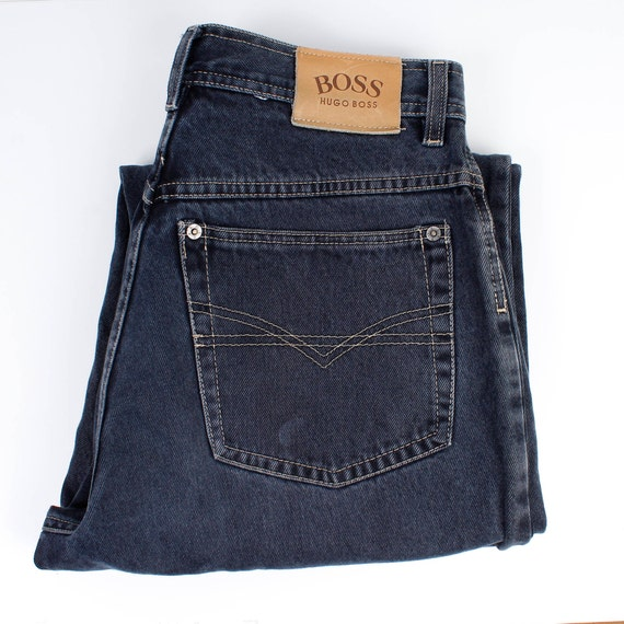 Hugo Boss Denim Jeans Vintage Denim Black Jeans  V
