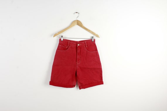 le dernier le plus fiable riche et magnifique Short en Jean rouge taille haute pour femme Shorts Short en Jean Vintage  des années 80 des années 90 Style Boho Shorts