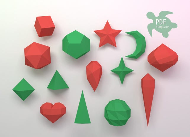 Diy Papercraft Christmas Decorations Etsy