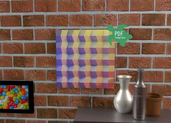 Wall Decor Diy 3d Wall Art Instant Download Wall Hanging Etsy