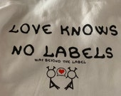 Love Knows No Labels Hooded Sweatshirt custmized with a Fidget Pocket by teens with Autism