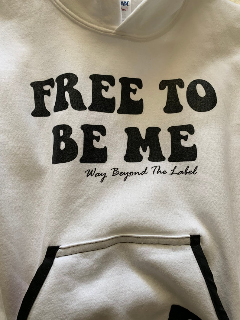 Free To Be Me Hooded Sweatshirt customized with a fidget image 0