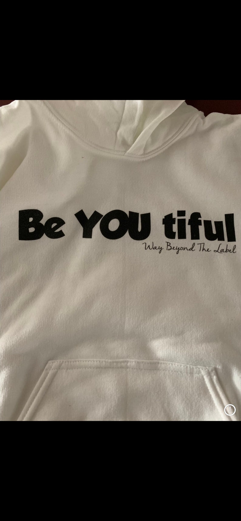 Be YOU tiful  Hooded Sweatshirt customized with a Fidget image 0
