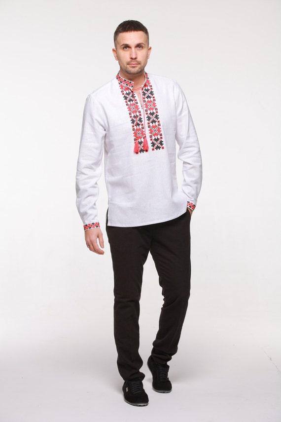 Camisa bordada de los hombres. Vyshyvanka ucraniano.  4fdc2b89b6404