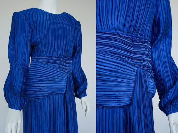 1980s George F. Couture Fortuny Pleat / Plisse Ple