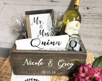 bridal gift box bridal gift bridal shower gift wedding gifts personalized gift wood box gift basket wine box
