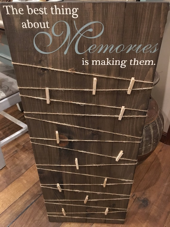 Making Memories Wooden Sign Photo Board With Clips