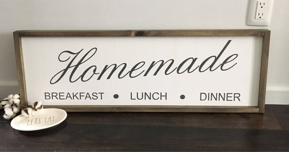 A Kitchen Is Launching An Express Lunch Service: Kitchen Signs / Homemade Sign / Breakfast Lunch Dinner
