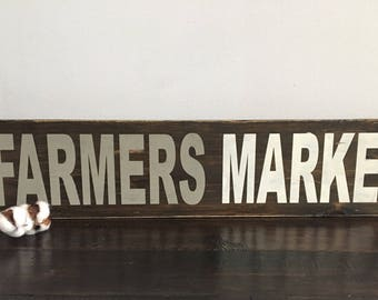 SALE! Farmers Market Wooden Sign / Rustic Wooden Signs / Kitchen Signs / Farmhouse Decor / Farmhouse Sign