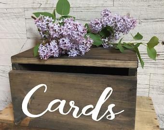 Wedding Card Box / Rustic Wedding Box / Card Box / Wooden Box / Wood Card Box / Wedding Decor
