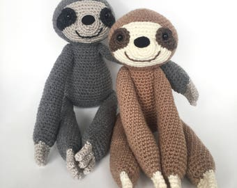 Amigurumi crochet pattern: Sloth