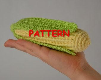 Corn PATTERN PDF, Crochet corn, Play food crochet PATTERN, Crochet vegetables pattern, Pretend play food pattern, knitted food pattern