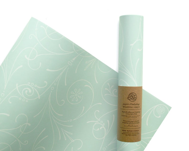 Wrapping Paper Sweet Mint // Wrapping Paper Birthday image 0